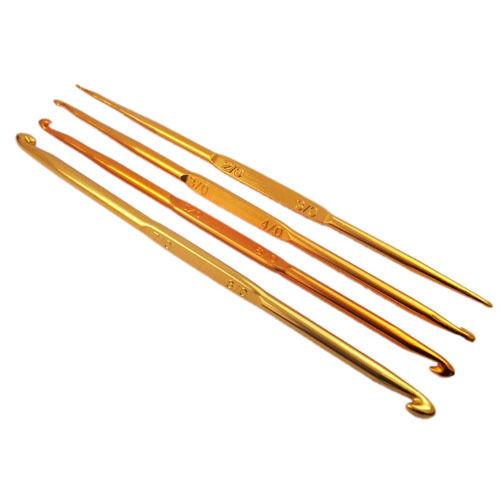 Алюминиевые крючки золотого цвета